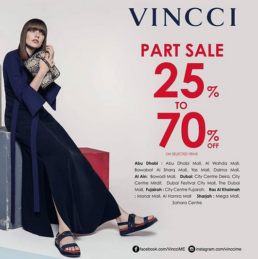 VINCCI - Part Sale 25% to 70% off on selected items.