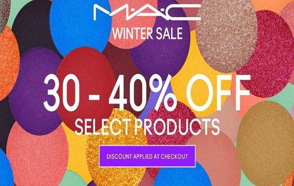Winter Sale has dropped. Up To 40% Off @ MAC Cosmetics