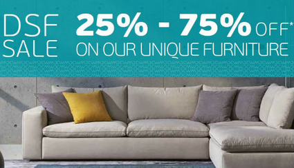 Enjoy DSF SALE 25% to 75% on our unique furniture & accessories at Chattels & More Dubai showroom