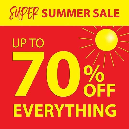 Super Summer Sale at JYSK. Up to 70% OFF EVERYTHING.