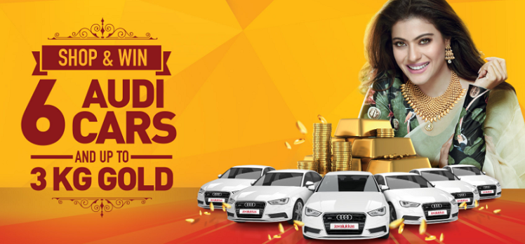 Joyalukkas - Shop & Win 6 Audi cars and up to 3 kg gold! Buy gold jewellery worth AED 500 and get 1 raffle coupon or buy diamond jewellery worth AED 500 to get 2 raffle coupons and stand a chance to drive away in a brand new Audi car and win up to 3 kg of gold. 0% deduction on gold exchange. Double your chances of winning with your reward card. 0% Installment plan. Offer valid till 23rd December 2017. *Conditions apply.