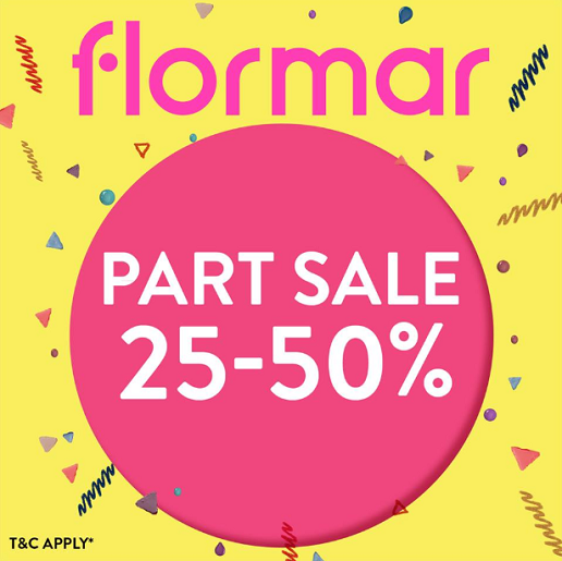 Flormar - Shop your favourite products now at 25% - 50% Off* until 2nd February 2019.  Offer valid at BurJuman, The Dubai Mall, City Centre Deira, Mercato Shopping Mall and Al Ghurair Centre. *T&C Apply
