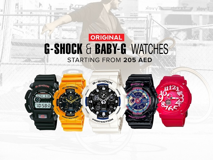 HabibiDeal.com - G-Shock & Baby-G Watches starting from 205 AED.