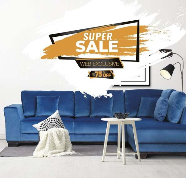 Super Sale. Up to 75% Off. Get your favorite furniture at discounted prices, only at Royal Furniture online.
