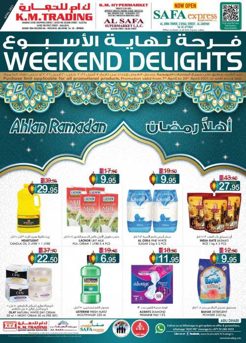 Weekend Delights @ K.M. Trading - Abu Dhabi Edition. Promotion valid from 7th to 20th April 2021.