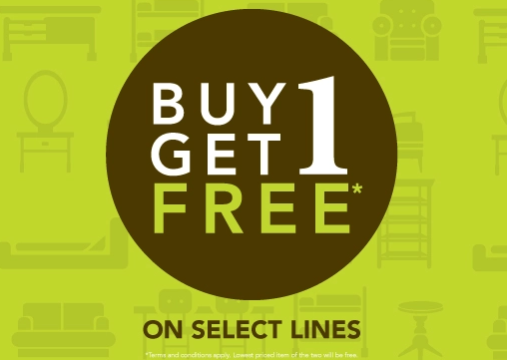 Home Centre - Buy 1 Get 1 Free, on select lines!