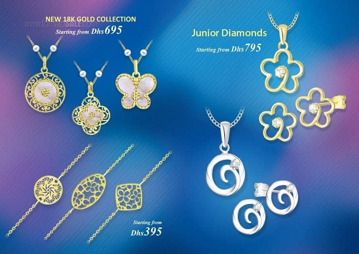Lifestyle Fine Jewelry - Eid Offer. New 18K Gold collection starting from Dhs 695. Junior Diamonds starting from Dhs 795.