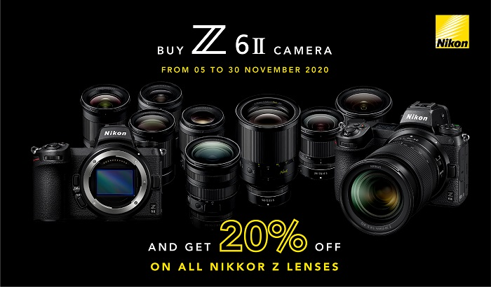 Grand Stores - BUY NIKON Z6 II CAMERA from 5th to 30th November and Get 20% Off on All NIKKOR Z LENSES.