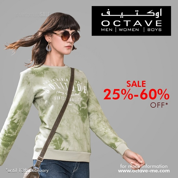 OCTAVE SALE OF THE YEAR - Avail Great Discount of 25% to 60% on Autumn-Winter Collections of Men's, Women, Juniors and Foot Wear at OCTAVE outlets across Dubai.