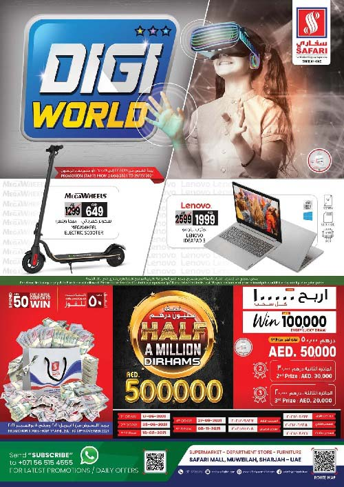Budget pricing shopping on Branded Items at Safari Mall Sharjah!! Massive offers for Sony, Yamaha, Samsung, Apple, Oppo, Philips, Canon, Toshiba & Nikai etc.