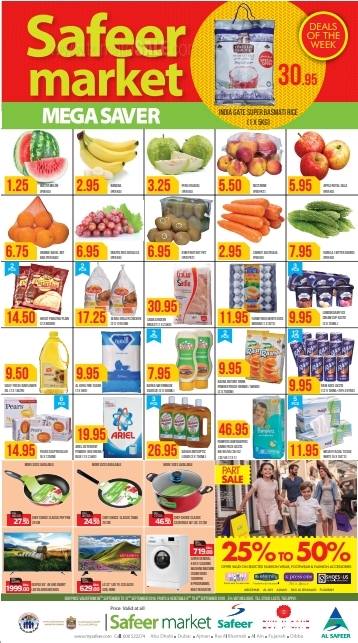 Safeer Market Mega Saver Offer. Valid from 6th to 12th September 2018.