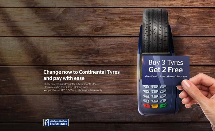 Buy 3 Tyres Get 2 free @ Continental