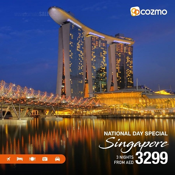 Cozmo Travel - Visit Singapore this UAE National Day! All-inclusive Packages from AED 3,299*. Limited Period Offer.