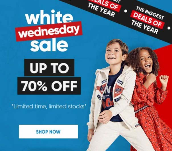 White Wednesday Sale. Up To 70% Off @ Babyshop