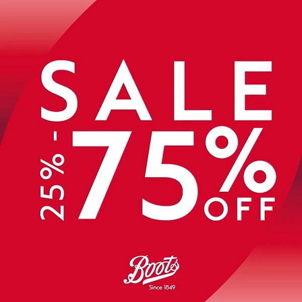 Get ready for 2021 with Boots' best & most loved brands on 25% - 75% SALE from skincare, haircare, bath and body products and much much more.