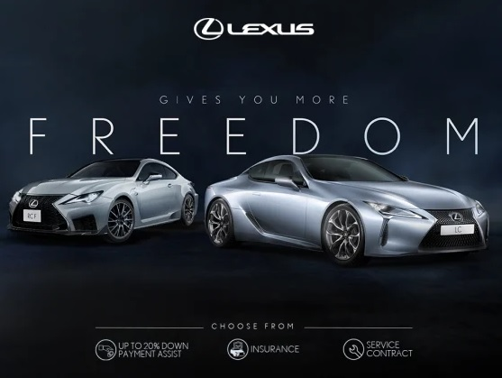 LEXUS GIVES YOU MORE FREEDOM TO CHOOSE.