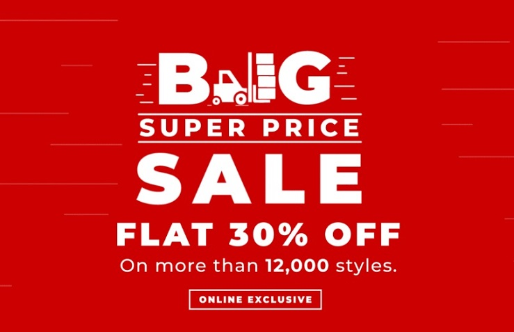 Brands for Less BIG Super Price Sale. Flat 30% Off on more than 12,000 styles. Online Exclusive.