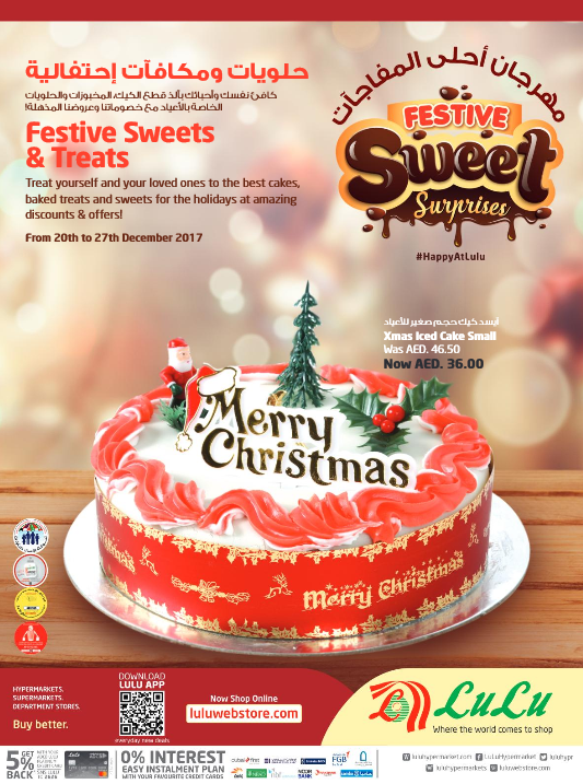 LuLu - Festive sweet Surprises. From 20th to 27th December 2017.