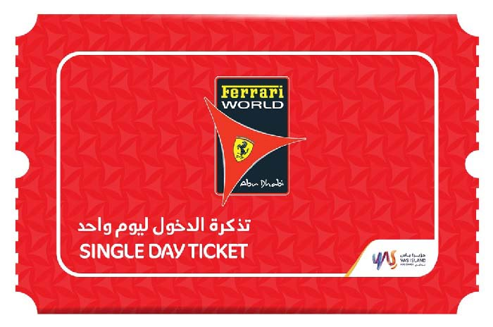 10th Year Anniversary Offer - Valid until 5 December. For UAE residents only, celebrate with us and enjoy 50% OFF tickets to Ferrari World Abu Dhabi.