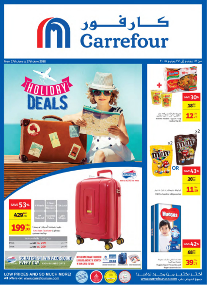 Carrefour - Holiday Deals. Offer valid from 17th June to 27th June, 2018