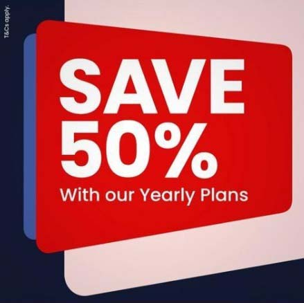 Sign up and Pay only 50% off your Yearly Plan for the whole year @ Virgin Mobile. T&C's Apply