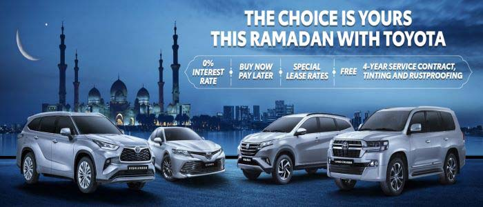 This holy month, begin a new journey of prosperity with Toyota. Choose your own Ramadan benefits and elevate your driving experience with the Toyota of your dreams.