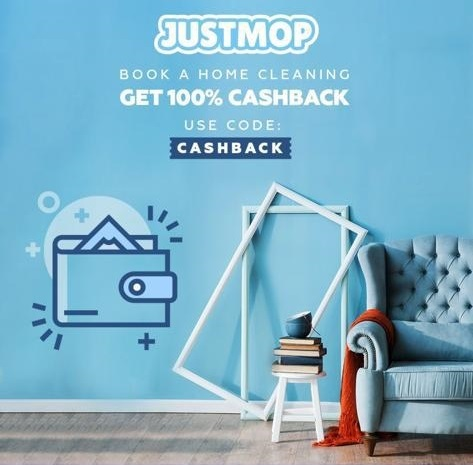 Justmop.com - Book a home cleaning get 100% cashback. Use code: CASHBACK
