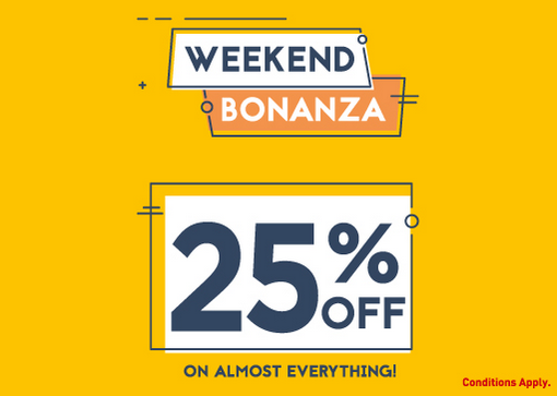Babyshop Weekend Bonanza. 25% Off On Almost Everything! Valid in: UAE (Except Sharjah Emirate, Dubai Outlet Mall & Ajman China Mall). Expires on: 02 Jun 2018