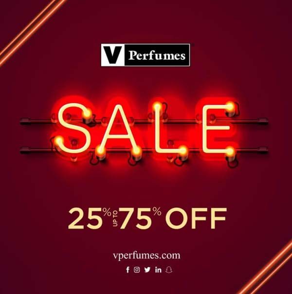 SALE 25% to 75% Off @ V Perfumes