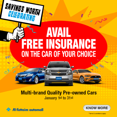 Al-Futtaim Automall - Savings Worth Celebrating. Get free car insurance on certified quality pre-owned cars.