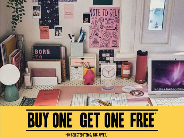 Buy 1 Get 1 Free on selected items @ Typo. T&C Apply