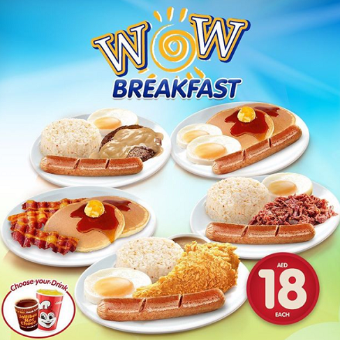 WOW Meals, WOW Value with Jollibee WOW Breakfast for only AED 18.