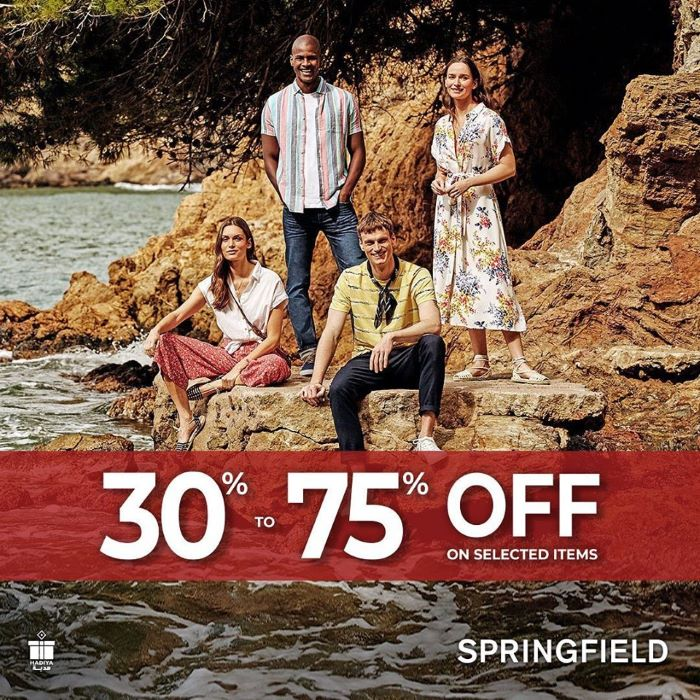 It's time for your to revamp your summer wardrobe with @ Springfield 30% – 75% Part Sale.