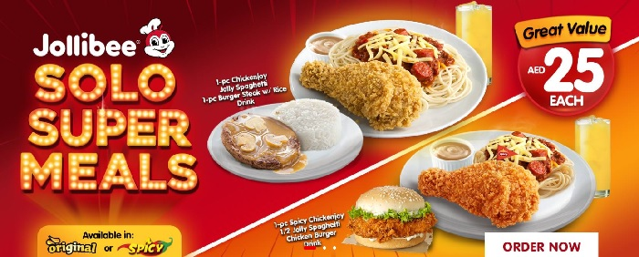 Solo Super Meals Great value AED 25 each @ Jollibe