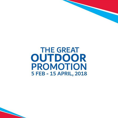 ACE - The Great Outdoor Promotion. 5th February to 15th April, 2018.