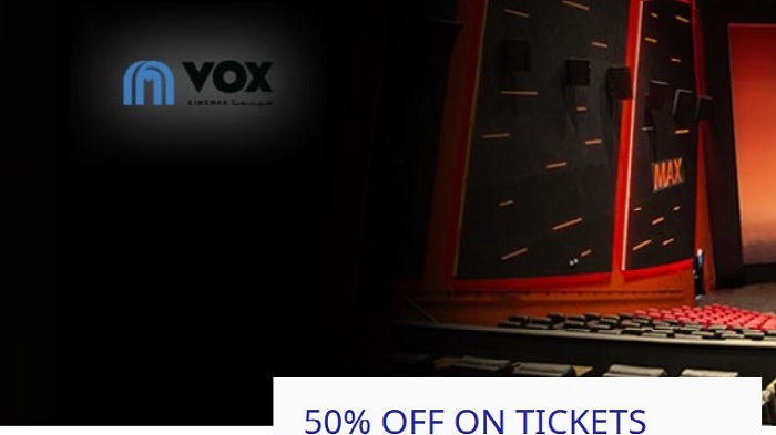Make your movies more memorable with 50% off on the tickets at Vox Cinemas with complimentary upsize on drink and popcorn with your Noor Wealth and Noor Rewards Credit Cards Offer valid on Thursday, Friday or Saturday when booked online or though the VOX mobile app