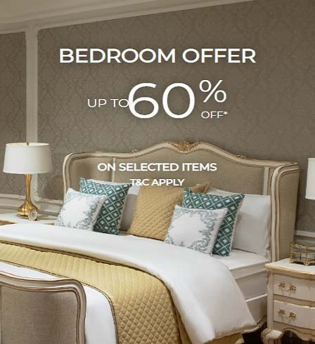 Bed Room Offer. Up to 60% Off on Selected Items @ 2XL Furniture & Home Decor