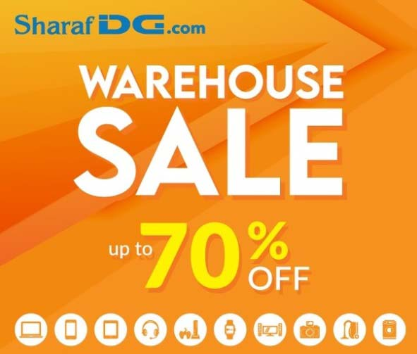 Up to 70% off on your favorite gadgets. Head over to Sharaf DG Warehouse Sale at our Umm Ramool warehouse.