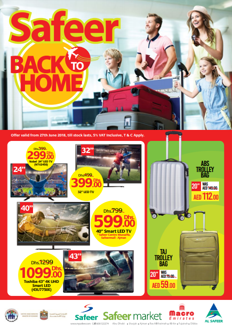 Safeer Back 2 Home Sale. Offer valid from 27th June 2018, till stock lasts.