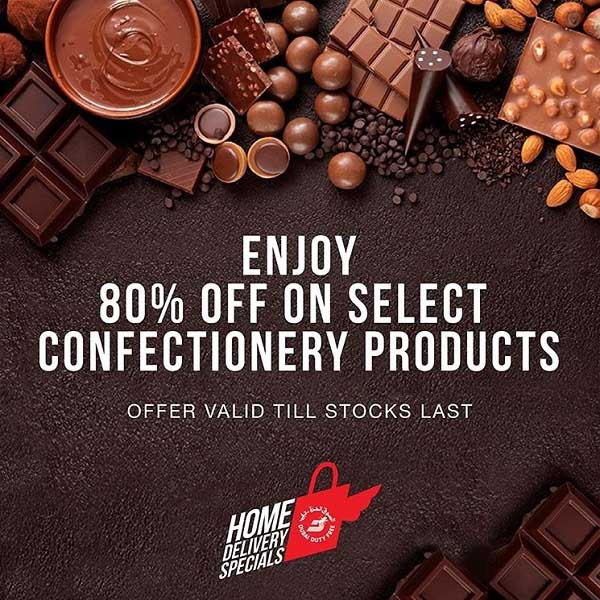Life is like a box of chocolates, you never know what you're gonna get. But with Dubai Duty Free Home Delivery specials, you're guaranteed an amazing 80% off on select chocolates and confectionery. Order on uae.dubaidutyfree.com for delivery within the UAE.