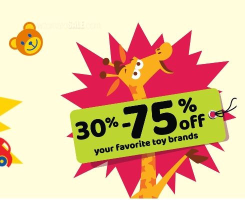 Toys R Us Part Sale. 30%- 75% off on your favorite toy brands. Promotion valid from 20th June until 4th August 2019