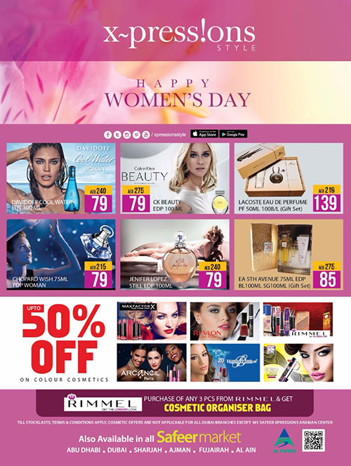 Get Up to 50% Off on selected perfumes & cosmetics at Xpressions Style outlets on this Women's day!