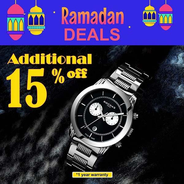 Ramadan deals is started! Additional 15% Off on Rochas watch brand @ Brands4u