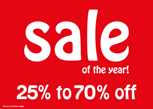Babyshop - Sale of the year! 25% to 70% off. T&C apply