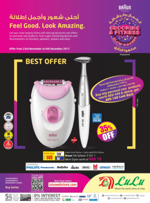LuLu - Grooming and fitness. Offer from 23rd November to 6th December 2017