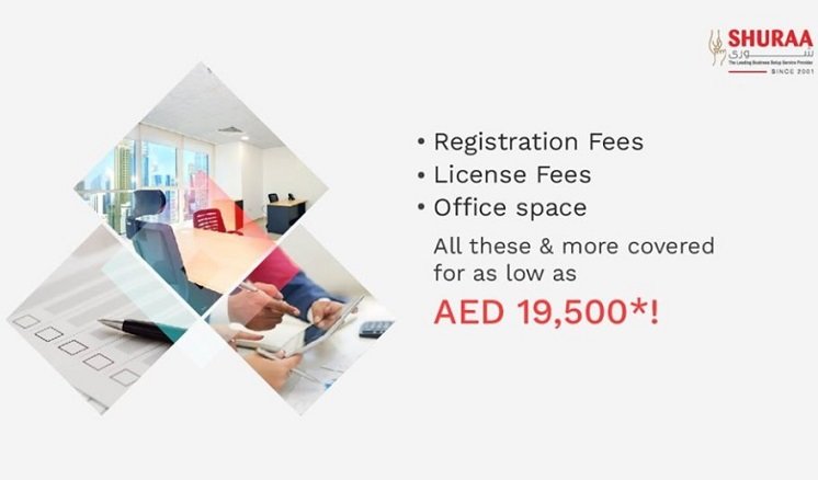 Shuraa's cost-effective business setup packages offer the best deals on company formation in the UAE. Registration fees, DED license fees, office space, and other services are all covered, starting from as low as AED 19,500* for Dubai mainland