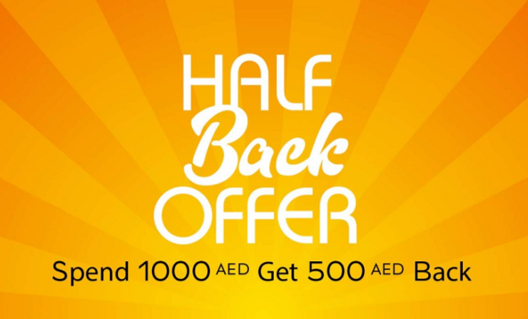 LE BHV MARAIS - HALF BACK OFFER. Spend AED 1,000 and get AED 500 back for any purchase in all departments in the store. The offer is valid until the 14th of February 2018.