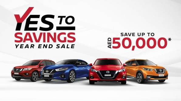 The Nissan Year End Sale is back! This year, get incredible value on your favorite Nissan model. You can save up to AED 50,000* and drive home a new Nissan.   Offers are available across our range.  Hurry! Offer valid until stocks last.