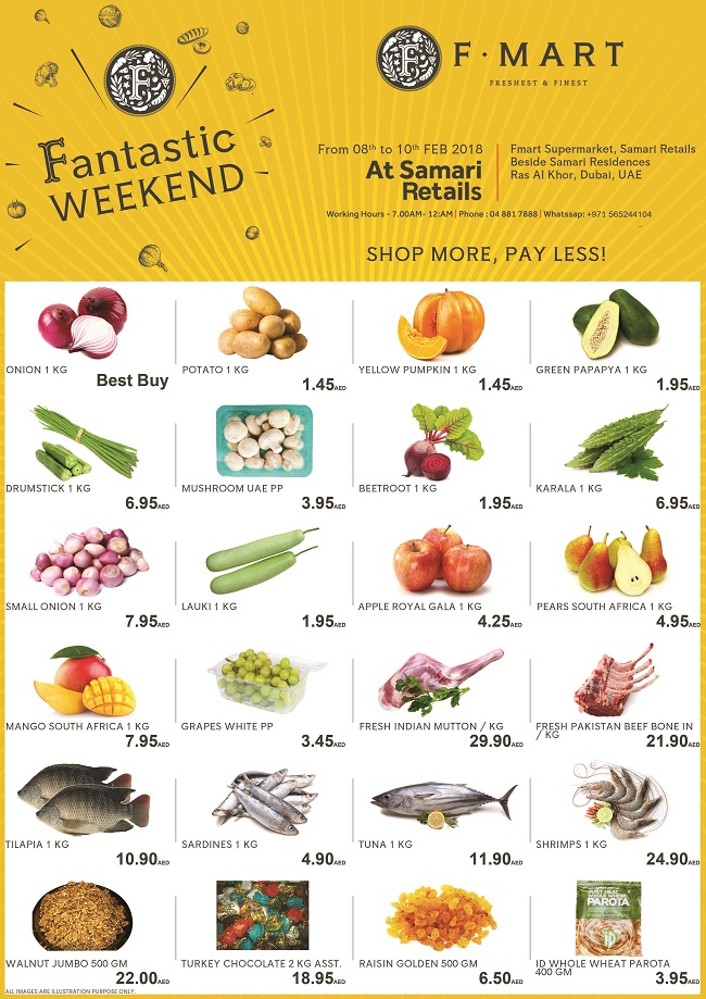 F Mart - Special Offers. Fantastic Weekend. Offer valid from 8th to 10th February 2018.