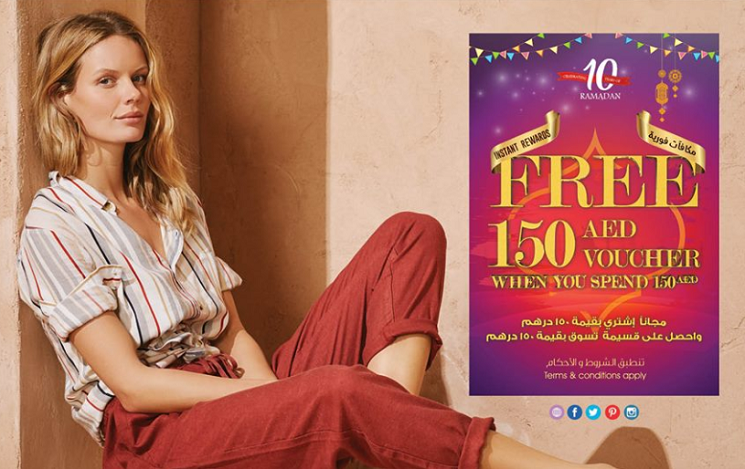 Let's celebrate together Matalan's 10th year of Ramadan with FREE 150 AED voucher when you just spend 150 AED!